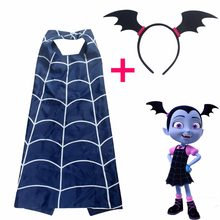 Halloween Party Cosplay Vampirina Costumes Children Clothing Girls Vampirina Cape+Mask/Headband Vestido Clothing DS9(China)