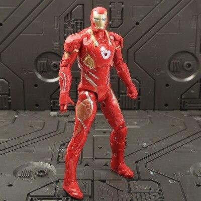 Marvel Мстители 3 Бесконечность войны фильм Аниме Супер Герои Капитан Америка, железный человек, Халк Тор супергерой Фигурки игрушки - Цвет: ironman