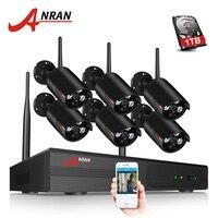 ANRAN Plug And Play P2P 8CH NVR Wireless CCTV System 6PCS 960P HD H 264 Mini