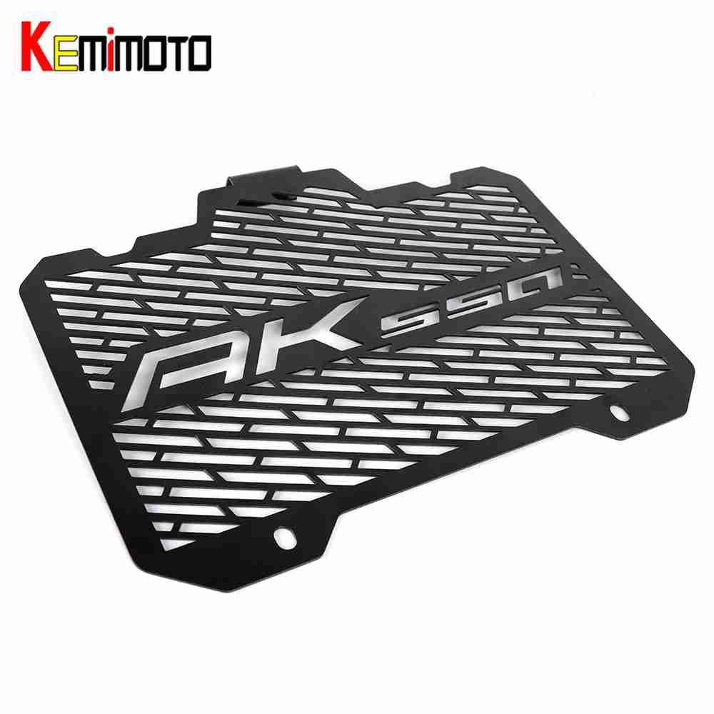 KEMiMOTO Motorcycle For KYMCO AK550 2017-2018 Motorcycle Radiator Grille Guard Radiator Cover Protector Stainless Steel motorcycle stainless steel for kawasaki radiator grille guard grenaj radiatore covers protector accessories z750 z800 z1000