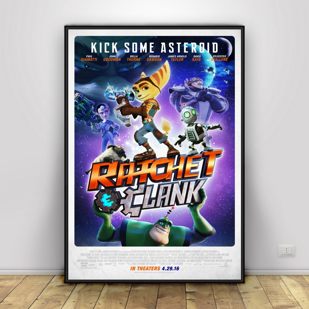 Ratchet And Clank Art Silk Poster Home Decor 12x18 24x36inch