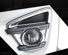 KOUVI ABS Chrome Front Fog Light lamp cover trim garnish For MAZDA CX-5 CX5 2015 2016 car styling accessories