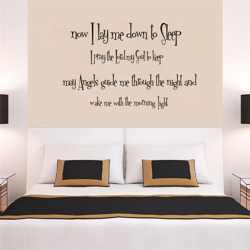 Exceptionnel God Bless You Quotes Wall Stickers Bedroom Home Decorations Decals 8196.  Diy Vinyl House Adesivo De Paredes Mural Art Poster 4.0 In Wall Stickers  From Home ...