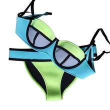 Summer Swimwear Women Bikini Sexy Girl Neoprene Bikini