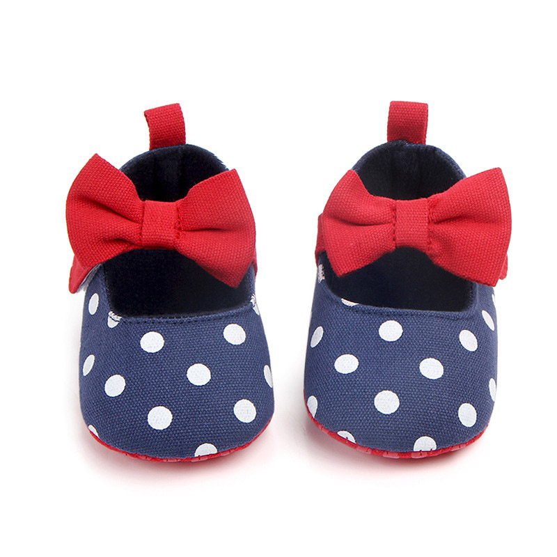 Hot Autumn Baby Girl Cotton Casual Bow Shoes First Walkersborn Cute Non-slip Soft Soled Walking Shoes