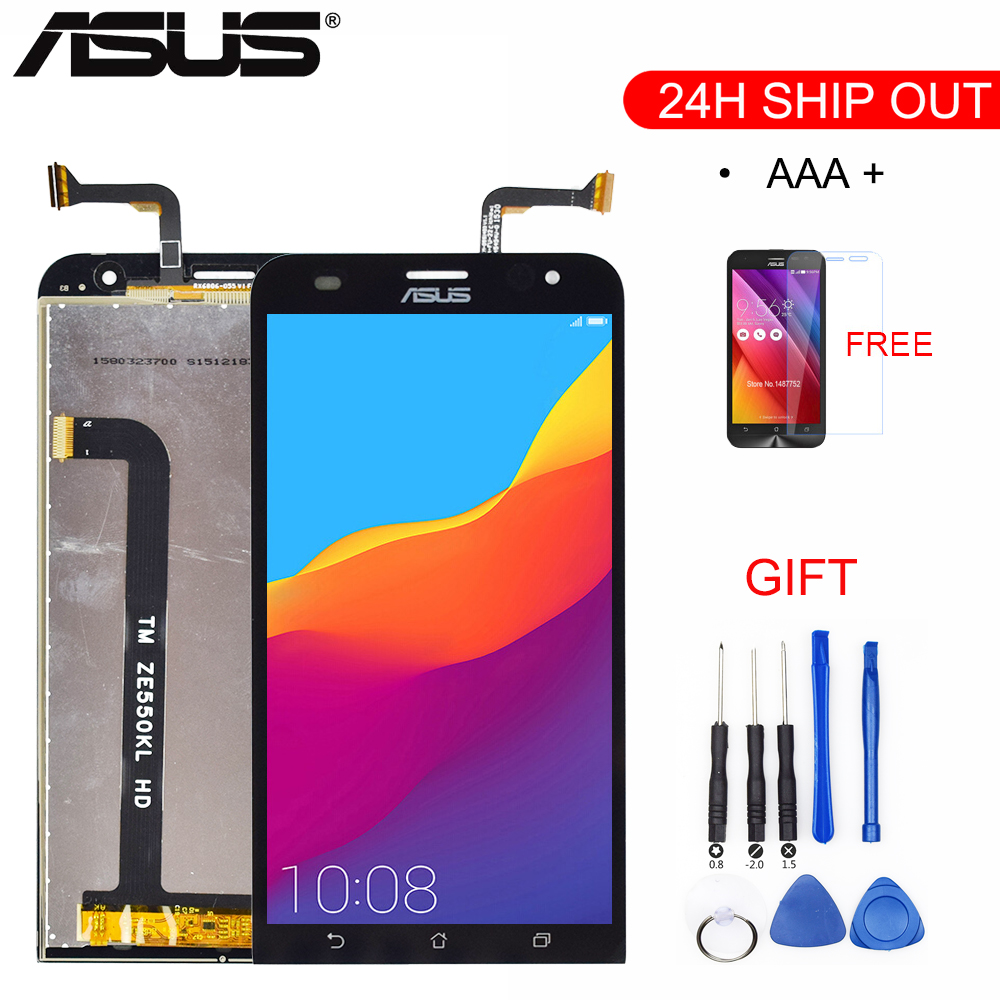 Original For ASUS Zenfone 2 Laser <font><b>ZE550KL</b></font> <font><b>LCD</b></font> Touch Screen Digitizer with Frame For Asus <font><b>ZE550KL</b></font> <font><b>LCD</b></font> Display Replacement parts image