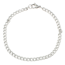 Mens Womens Stainless Steel Jewelry Bracelet Curb chain Silver Jewelry Bangle Friendship Wristbands