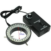 Бесплатная доставка!!! 60 LED Регулируемые Кольца Света просветителя Лампа Для Промышленности Микроскопа Промышленная Камера Лупа