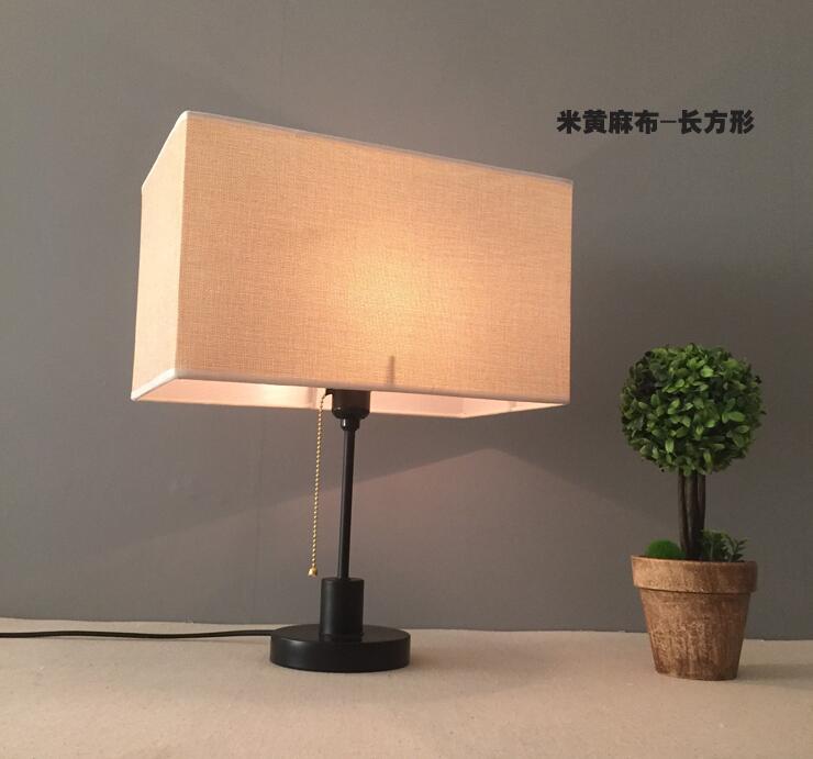 10 pcs RECTANGLE E27 handmade classic decorative lamp shade table lamp FLAX Rustic Country retro ring lampshade