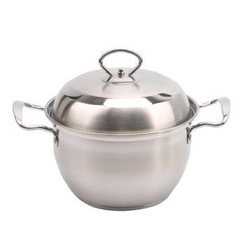 Nonstick Stock Pot Milk Soup Pan Stockpot Saucepan Butter Warmer Lightweight Dishwasher Safe Healthy Coating Stainless Steel