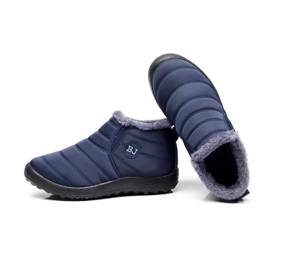 2019 yeni kadın kış ayakkabı düz renk kar botları peluş İç Antiskid alt tutmak sıcak su geçirmez kayak çizmeler boyutu 35 -46