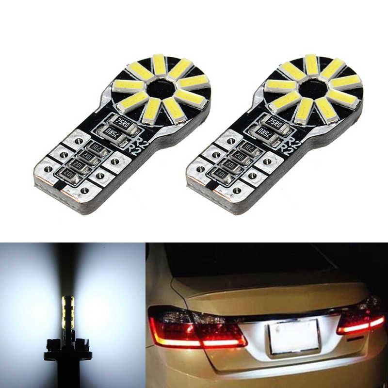 2x T10 SMD 3014 Car LED License Plate Auto Canbus Light W5W 168 194 For Toyota Corolla Avensis Yaris Rav4 Hilux Prius