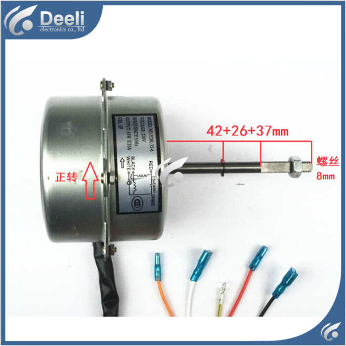 99% new good working for Air conditioner Fan motor machine motor YDK-35-6 220V good working