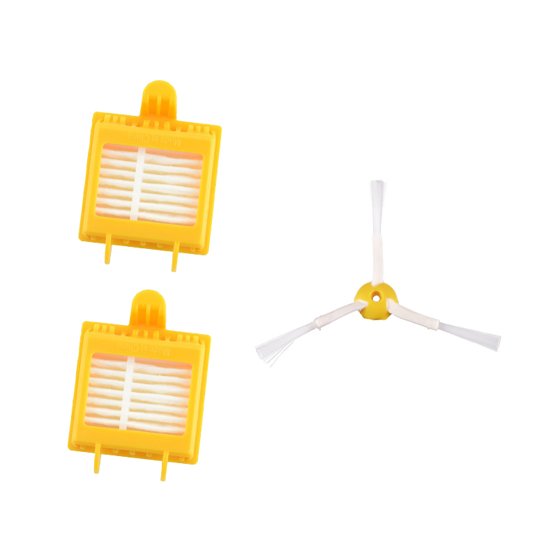 2pcs HEPA Filters + 1pcs 3-Armed Side Brush for iRobot Roomba 700 Series 760 770 780 790 Robotic Vacuum Cleaner Spare Parts new replace brush filter 3 armed kit for irobot roomba 700 series 760 770 780