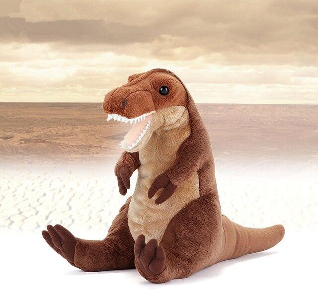 Mini Tamanho Realista Tiranossauro Dinossauro Brinquedos de Pelúcia Super Macia Bichos de pelúcia Brinquedo Bonito Do Dragão Brinquedos De Pelúcia Presentes Para As Crianças