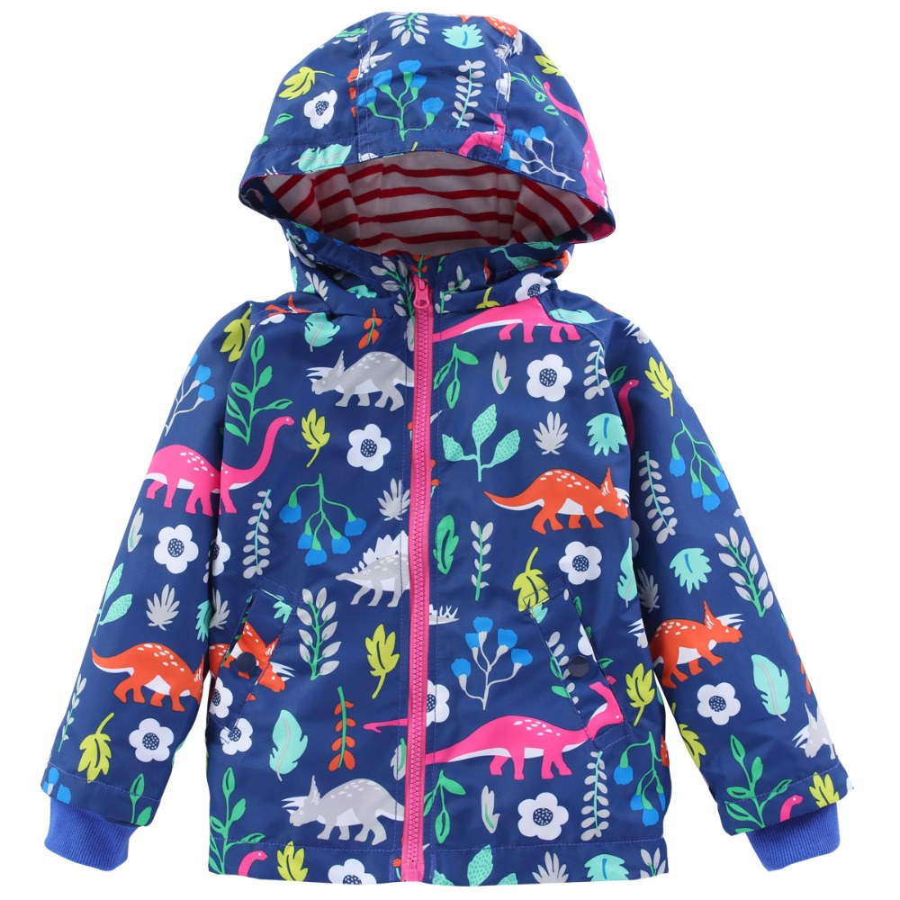 New Products Dinosaur Print Children's Jackets Spring and Autumn Children's Dinosaur Jacket European and American Windbreaker