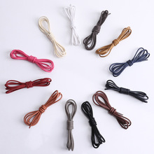 Round Waxed Shoelace, Waxy Rope, Slacker, Waterproof Shoes, Shoes And Shoelaces men Shoe Laces 80-120cm
