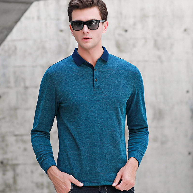 MACROSEA Spring Long Sleeve Cotton Polo Shirt Men Brand Clothes Solid Color Male High Quality Smart Casual Polo Shirt Tees C8190