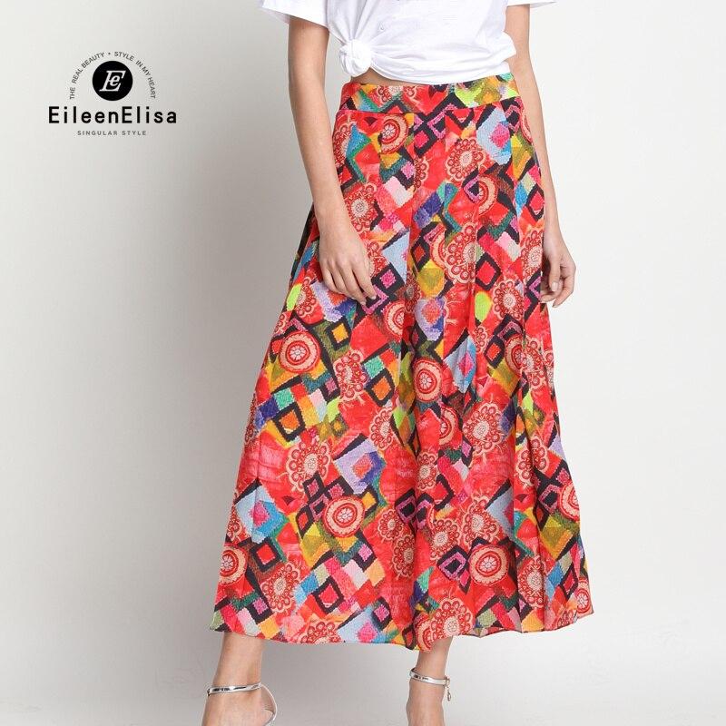 Jupe de piste femmes 2017 imprimé Floral jupe soie Vintage jupes été