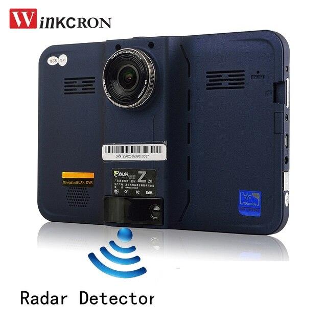 7 pouce de voiture dvr GPS Détecteur de Radar De Voiture Camion Véhicule Android WiFi AVIN Caméra de Recul Parking DVR Caméscope Bulit dans 16 GB