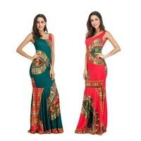Women Printing New Dress Cotton Beach Casual Dresses Sleeveless Summer Long Dress Shein Robe Femme