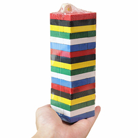 Mini Wooden Tower Wood Building Blocks Kids Toy Domino Stacker Extract Building Educational Jenga Game Gift
