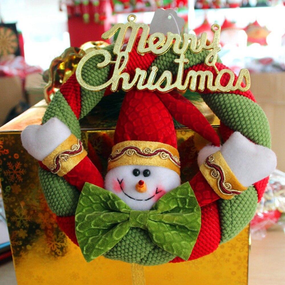 New Fabric Snowman Santa Claus