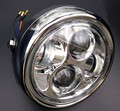 """Chrome 6.5 """"Motorcycle LED Proyección Daymaker Faro Para Harley"""