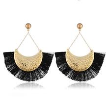HOCOLE 2018 Brincos Women Brand Boho Drop Dangle Fringe Earring Charms Vintage ethnic Statement Tassel earrings fashion jewelry