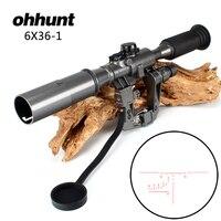 Ohhunt Охота Тактический POS 6X36 1 подсвеченный красным SVD AK прицел снайперской винтовки прицел Сделано в Китае Бесплатная доставка