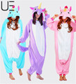 Comercio al por mayor de la Panda Stitch Unicorn Unisex Zapatos de Franela Con Capucha Pijamas Traje Cosplay Animal Bodies Pijamas Adultos Mujeres Hombres