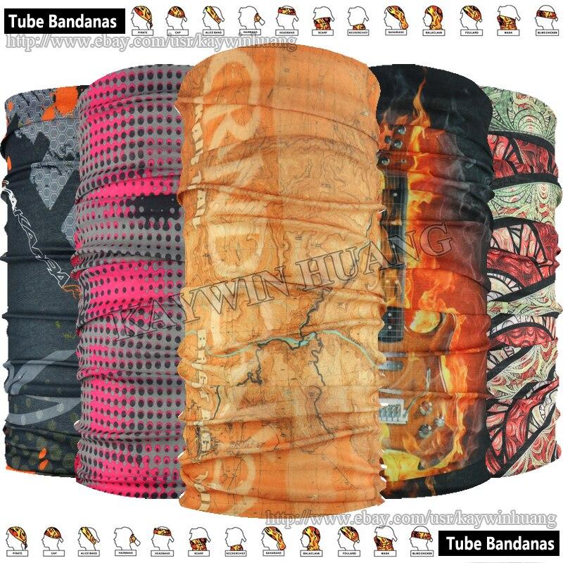 EXPRESS Velkoobchod Velkoobchod 100ks Smíšený styl Polyester Trubkový Multifunkční Sportovní Sportovní Bandana 48 * 24cm S UV Ochranou