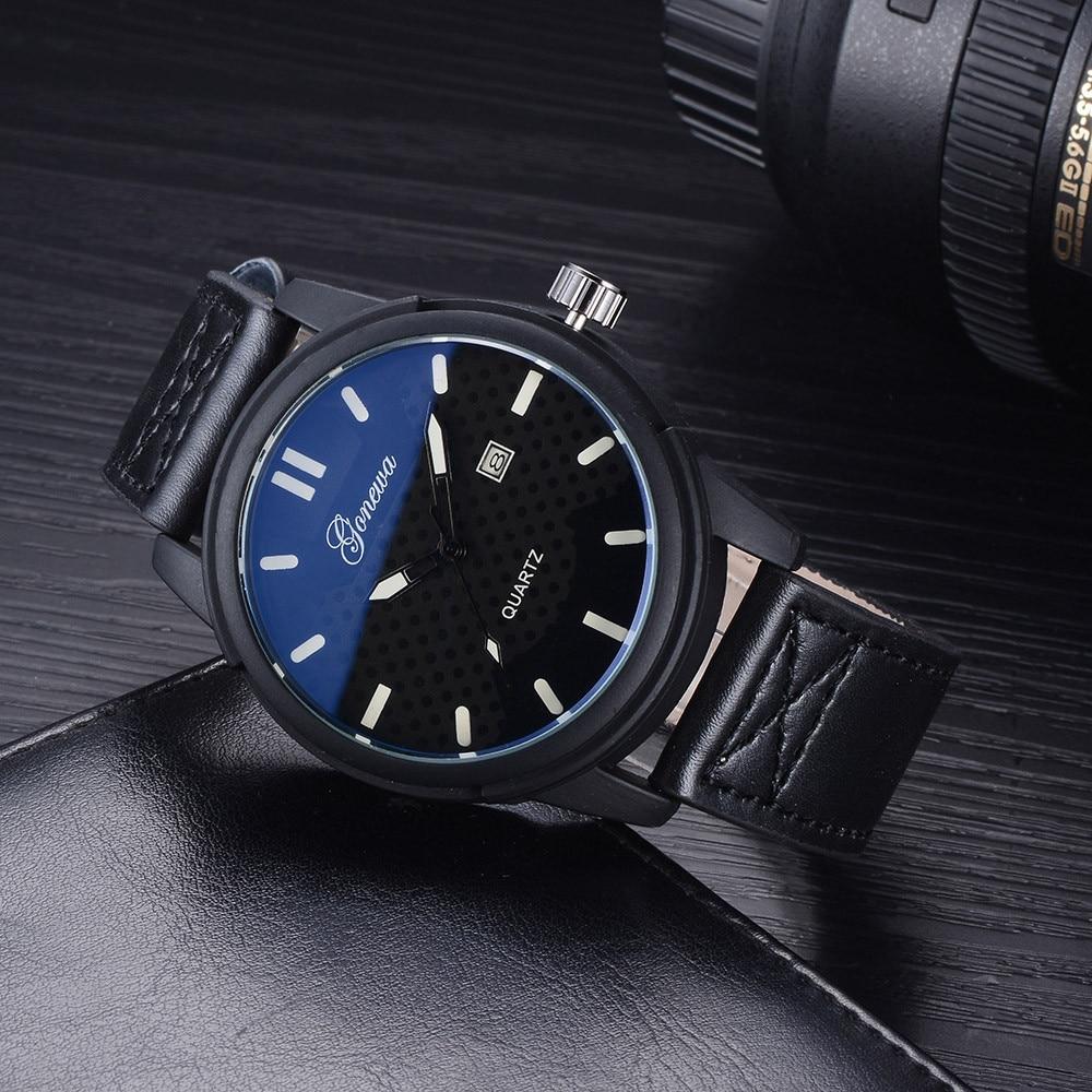 Relogio masculino Famous Brand Watches GONEWA Business Men Fashion Luxury Watch Casual Full Steel Calendar Quartz 2017 watch men