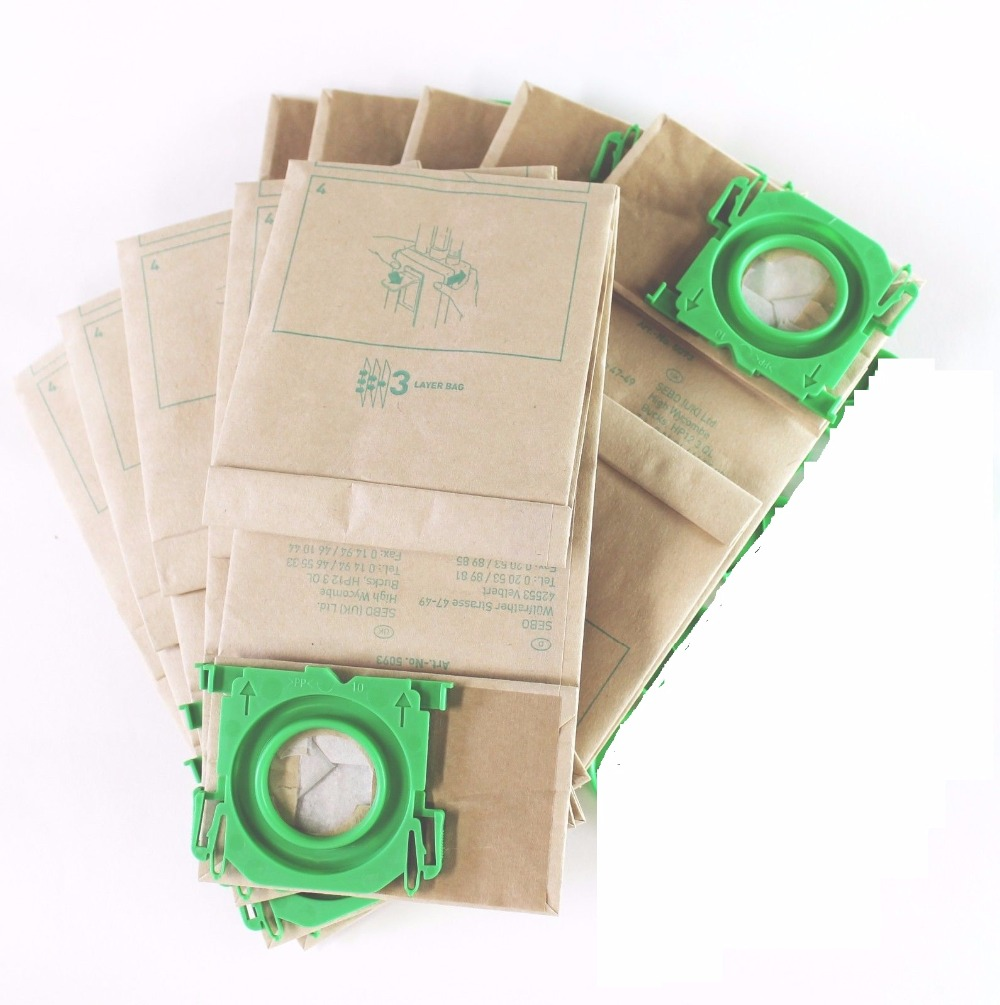 Free Shipping Clean Fairy Vacuum Cleaner Bag Fits To BORK V701 V702 3 Ply Paper Dust Bag - 10 Pack