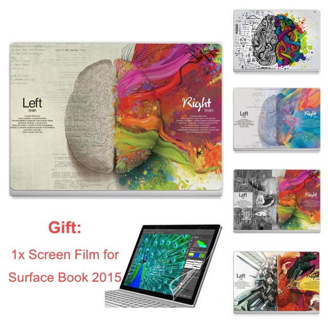GOOYIYO - Laptop Sticker For Surface Book 2015 Top Vinyl Decal Full Stickers Left Right Brain Print DIY Skin Gift Screen Film