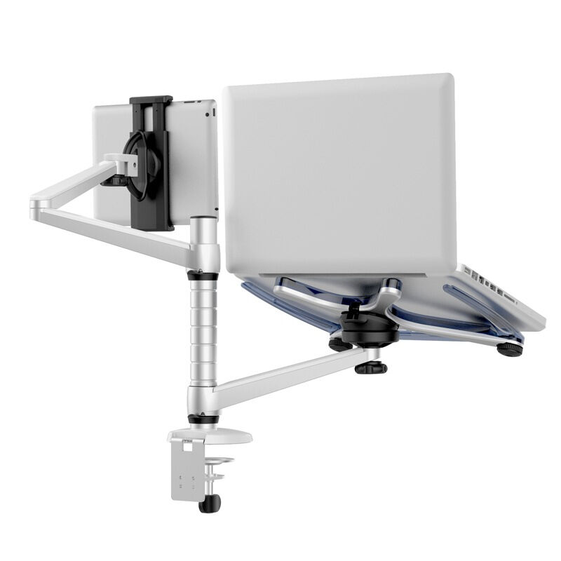 OA 9 Lazy People Laptop Stand Aluminum Alloy Desktop Multifunction Dual Arm Tablets Holder