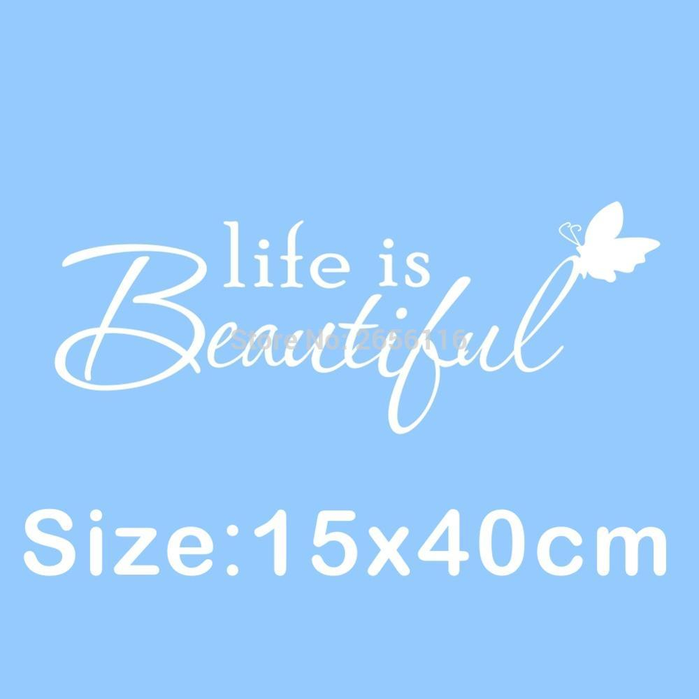 Appreciation Quotes Appreciation Quotes Butterfly Wall Decal Life Is Beautiful Vinyl