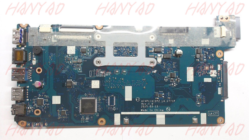 LA-C771P 5B20J30760 For Lenovo 100-15IBY Laptop Motherboard with N2840 Processor DDR3L Full TestedLA-C771P 5B20J30760 For Lenovo 100-15IBY Laptop Motherboard with N2840 Processor DDR3L Full Tested