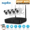 SANNCE Full HD 960P 4CH Wireless NVR CCTV System IP Camera 2MP WI FI Waterproof IR