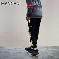 MANNAN Hommes Poches Cargo Pantalon Joggeurs décontracté Harem Baggy Harajuku Streetwear Hip Hop Tactique Pantalon