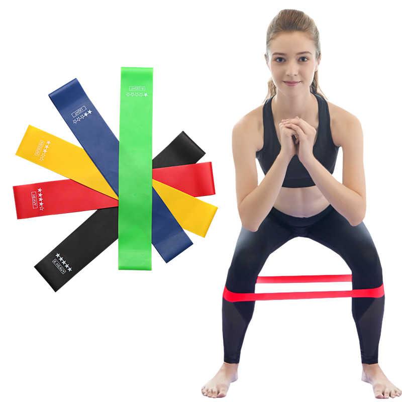 Odporność na joga opaski gumowe kryty odkryty Fitness gumy sprzęt 0.35mm-1.1mm Pilates trening sportowy do treningów i ćwiczeń opaski