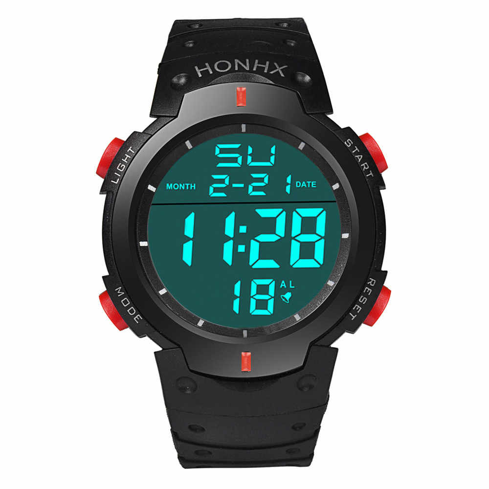 78aaf2a5a HONHX Fashion Men Sports Watches LED Digital Watch Outdoor Sports  Wristwatches For Men Military Electronic Watch