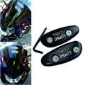 Gratis piezas de la motocicleta del mercado de accesorios Espejo Bloquear las Placas de base para Suzu GSXR 600 750 1000 GSX-R 2001-2004 negro