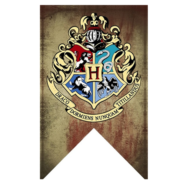 Harry Potter Banners Gryffindor Slytherin Hufflerpuff Ravenclaw College Flag Party Supplies Home Decoration Boys Girls Kids Gift