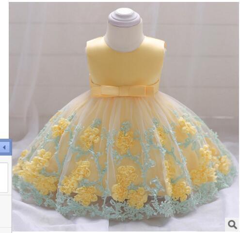 27b2c086d0d3 2018 Vintage Baby Girl Dress Baptism Dresses for Girls 1st Year ...