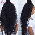 Королева Продукты Волос 4 шт. Бразильские Волна Воды Девственные Волосы 7А мокрый и волнистые Человеческие Волосы Бразильский вода волна вьющиеся волосы пучки
