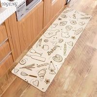 Pvc Mat for Kitchen Carpet Waterproof Bedroom Mat Cartoon Print Doormat Rugs Kitchen Carpet Anti Slip Long Protective Floor Mats