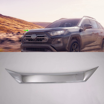 Aksesoris Mobil Eksterior ABS Baru Grill Depan Hood Penutup Mesin Trims untuk Toyota RAV4 2019 Petualangan Mobil Styling