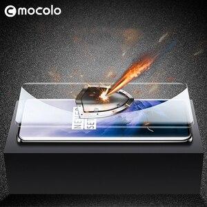 Image 5 - Für Oneplus 7 Pro Screen Protector Mocolo 7T Pro Volle Flüssigkeit Geklebt Gebogene UV Gehärtetem Glas für OnePlus 8 pro Screen Protector