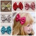 Ccsme DHL bebés muchacha de lentejuelas arco 10 colores Bling arcos del pelo con Clip Girls ' pinza de pelo del Boutique accesorios para el cabello